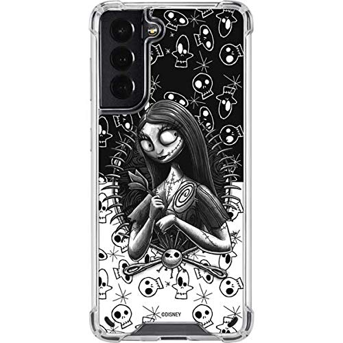 Skinit Clear Phone Case Compatible with Galaxy S21 5G - Officially Licensed Disney Nightmare Before Christmas Sally Design