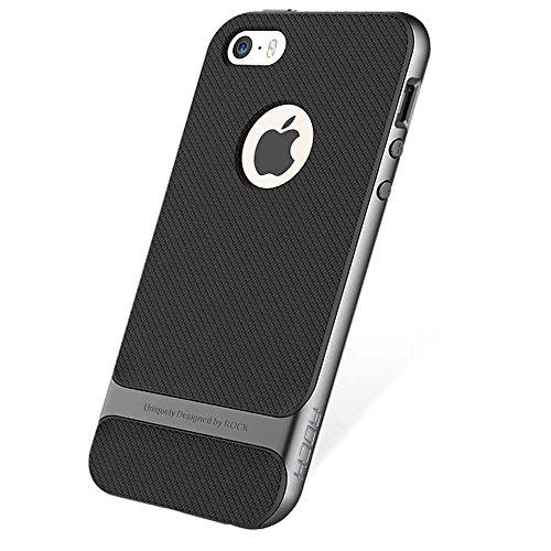 Genuine ROCK Royce Ultra Slim Hybrid Shockproof iPhone SE 5 5S Case Cover -...