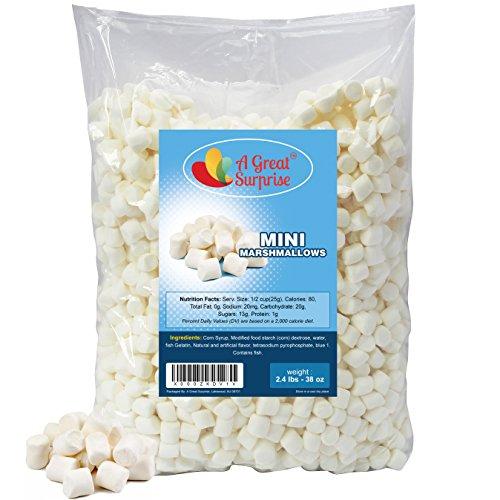 Marshmallows Mini Fat Free, 2.4 LB Bulk Candy