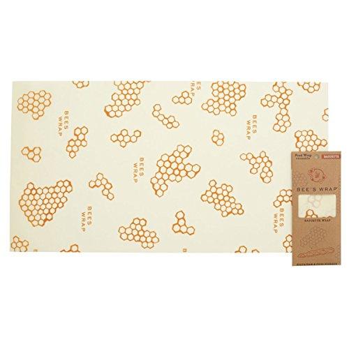 Papel para Envolver Barra de Pan Bee's Wrap, Individual, 35x 66cm, Color Beige