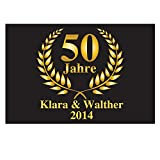 4you Design Fußmatte zur Goldenen Hochzeit/Fußmatte mit Druck 50 Jahre, Fußabtreter, Geschenkidee, Hochzeitsgeschenk, Dekoration, Erinnerung