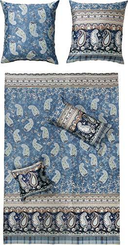 Bassetti ANACAPRI Bettwäsche, Satin, blau, 135x200