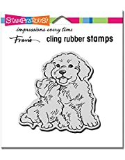 Stampendous CRQ251 Cling Kitty Kiss Rubber Stamp