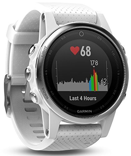 Garmin Fenix 5S - White with Carrara White Band (Renewed)