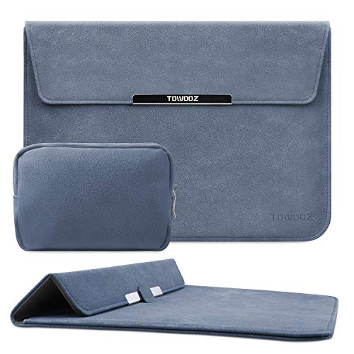 TOWOOZ - Funda para ordenador portátil de 13,3 pulgadas, compatible con MacBook Air/MacBook Pro de 13,3 a 13,3 pulgadas, piel artificial, materiales innovadores, tipo plegable (13-13,3 pulgadas)