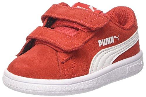 PUMA Unisex barn Smash V2 Sd V Inf sneakers, Röd hög risk röd puma vit - 23 EU