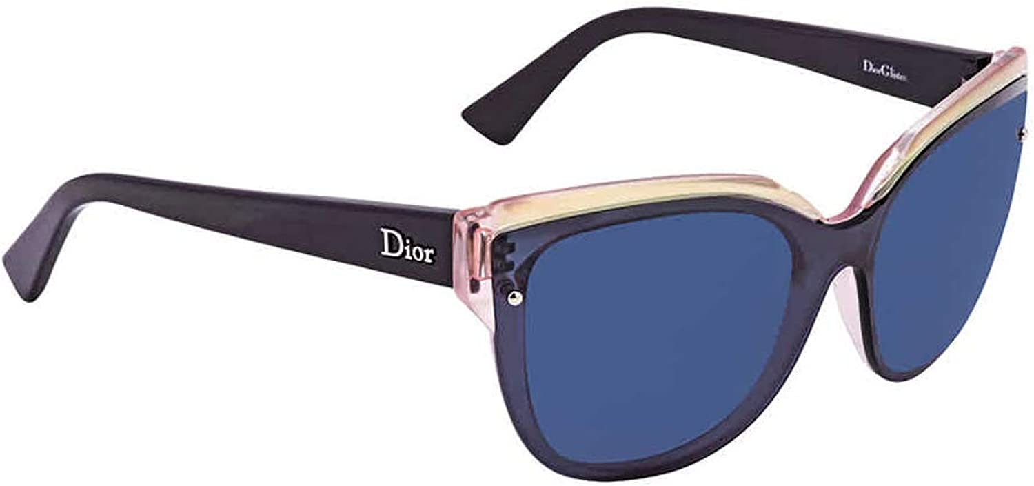 Dior ES9KU bluee and Pink Glisten 3 Cats Eyes Sunglasses Lens Category 3