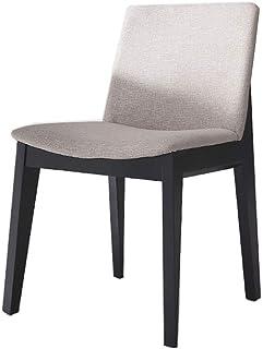 Luqifei Sillas de Comedor Inicio Cocina Sala de Estar Sillas sillas de Ocio Acolchado con Patas de Madera Maciza Negro Comedor Cocina Comedor Muebles (Color, Size : 52x52x80cm)