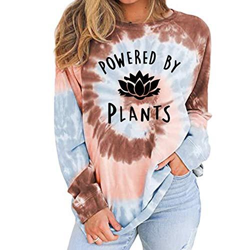 Powered by Plants Sweatshirt Top Fashion Slogan Tumblr Grunge Vegan Vegetarian Boho
