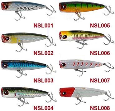 "NOEBY Salt water Top water 2 Hook Lure Aprox 8/"" APROX 4.8 oz NEW asstd colors"