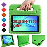 BMOUO Kids Case for Samsung Galaxy Tab A 8.0 (2015) SM-T350 - EVA Shockproof Case Light Weight Kids Case Cover Handle Stand Case for Kids Children for Samsung Galaxy TabA 8-inch Tablet - Green