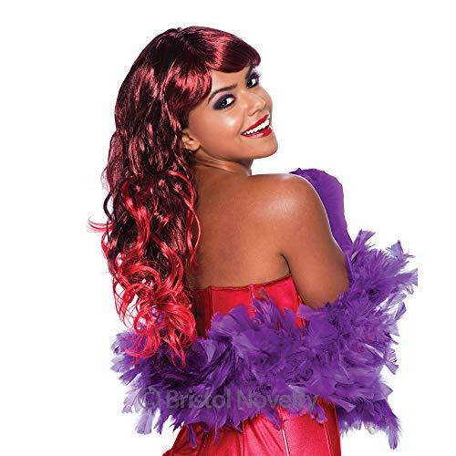 Bristol Novelty Novelty-BW497 BW497 Perruque Cheveux Longs pour Femme, Rouge, Red/Auburn, Taille Unique
