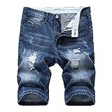 Shorts for Men, F_Gotal Men's Casual Distressed Denim Jeans Holes Washed Destroyed Jeans Pants Shorts Sweatpants Navy