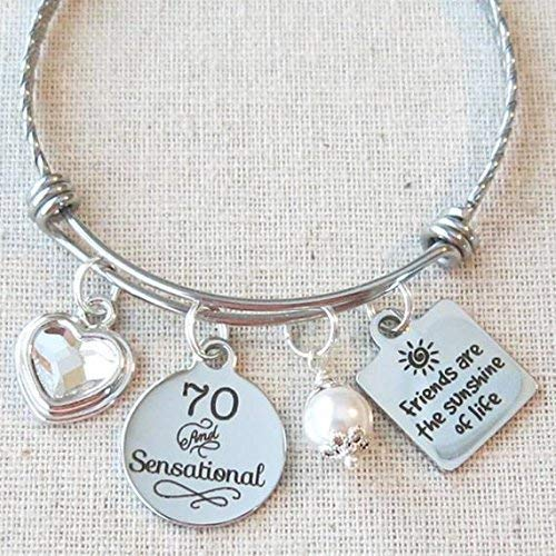 70th Birthday Bracelet for Women