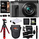 Panasonic DC-ZS70K Lumix 20.3 Megapixel, 4K Digital Camera, Touch Enabled 3' 180 Degree Flip-Front Display, 30x Leica DC Vario-Elmar Lens, Wi-Fi with 3' LCD, Black, 32GB Memory and Accessory Bundle