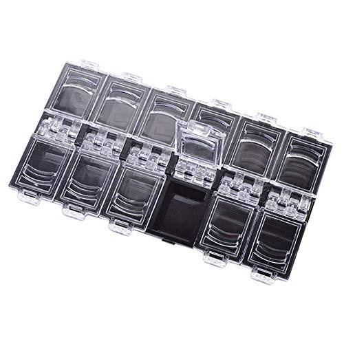Uyhghjhb Boîte à bijoux 12 grilles vides transparentes pour nail art
