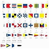 Señal marítima internacional Banderas náuticas Morse Educación Bandera Signos Símbolos Throw Pillow Covers Fundas de cojines Fundas de almohadas Sofás Decoración para el hogar 45X45Cm