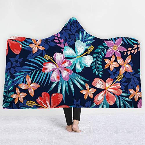 NA MYBH Home Blanket Manta con Capucha NewThicken Sofa BlanketTropical Series C130 * 150CM