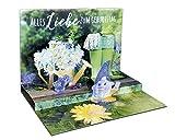 3D Pop – UP Karte Geburtstag, mit Glitter, Geburtstagskarte 3D, POP - UP Karten, POP UP Karten Geburtstag, Motiv: Gartenzwerg