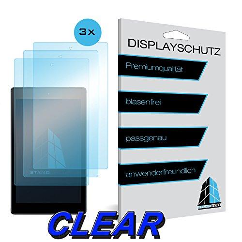 Atril valor protector de pantalla para Amazon Fire HD 8–Clear–Pack de 3