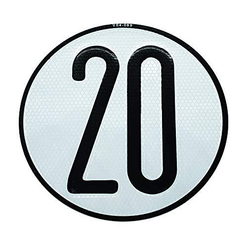 Autodomy Placa Disco de Velocidad 20 Km/h V4 Homologada Reflectante