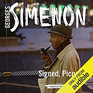 Signed, Picpus     Inspector Maigret, Book 23              By:                                                                                                                                 Georges Simenon,                                                                                        David Coward (translator)                               Narrated by:                                                                                                                                 Gareth Armstrong                      Length: 3 hrs and 52 mins     15 ratings     Overall 4.7