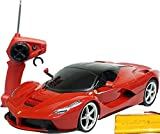 XQ TOYS 1/12 1:12 Scale Ferrari LaFerrari RTR RC Car R/C Vehicle, Front Light Headlight Tail Light Brake Light Rechargeable RTR Remote Control RC Car (Ferrari Red)