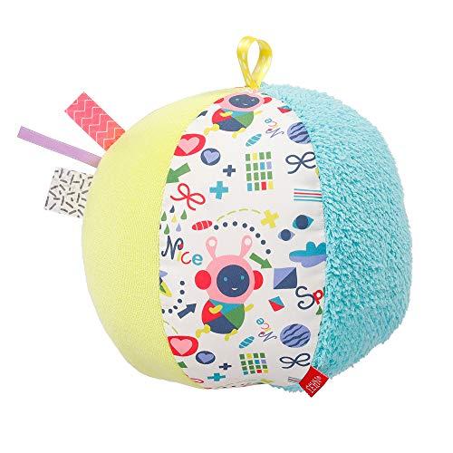 Fehn 055252 Stoffball COLOR Friends – Motorik-Aktiv-Spielball für Babys und Kleinkinder ab 0 Monaten – Größe: Ø 16 cm