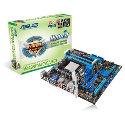 Asus M4A88TD-M EVO Mainboard Sockel AMD AM3 DDR3 Speicher Micro ATX