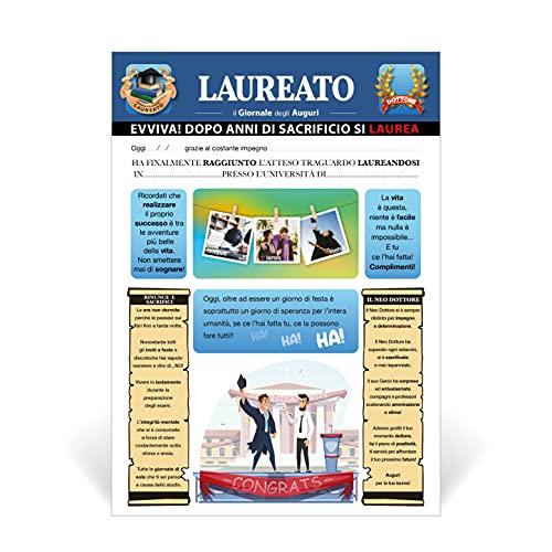 Biglietto Auguri Giornale Laurea (LAUREATO)