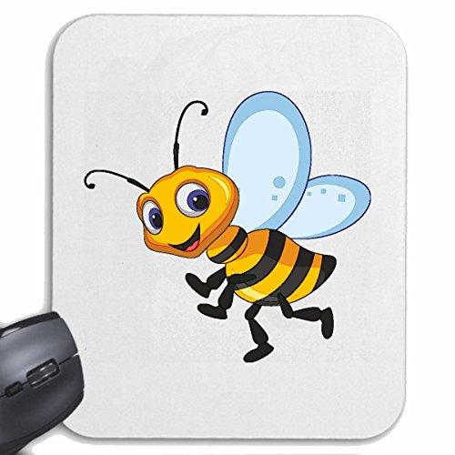 Reifen-Markt Mousepad (Mauspad) FRÖHLICHE Biene WESPE WESPE Honig FALTENWESPEN HORNISSE für ihren Laptop, Notebook oder Internet PC (mit Windows Linux usw.) in Weiß