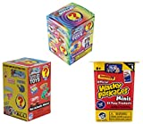 World's Smallest Classic Novelty Toy Surprise Boxes - Series 3 - Series 4 - Wacky Packages Minis Series 1 - Bundle Set of 3
