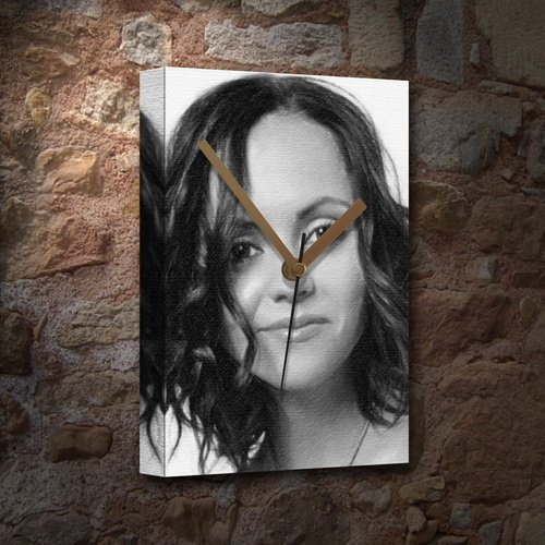CHRISTINA RICCI - Canvas Clock (A5 - Signed by the Artist) #js003