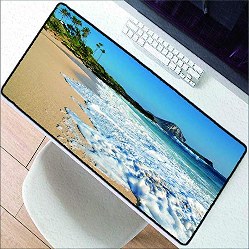 HonGHUAHUI grote fotografie kunst zeeblik spellen afsluitrand muismat laptop toetsenbord topper hoogwaardige rubberen pad 400 x 900 x 2 mm.