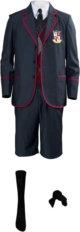 MingoTor The Umbrella Academy Schuluniform Boys Luther Spaceboy School Outfit Cosplay Kostüm Herren XS