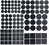 AGT Puffer: 110-teiliges Filzgleiter- und Möbelpuffer-Set, selbstklebend, schwarz (Filzgleiter rund)