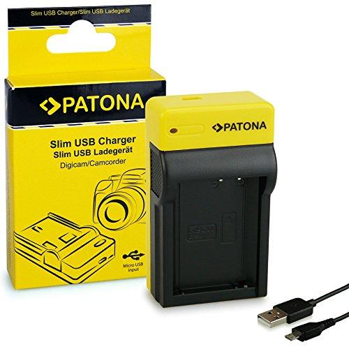 PATONA Estrecho Cargador para LP-E10 Baterías Compatible con Canon EOS 1200D Kiss X80 Rebel T6 8.4V / 500mA