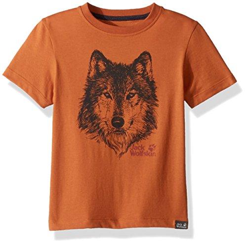 Jack Wolfskin Jungen Jacke Brand T, Jungen, 1607241, Desert Orange, 116 cm (5-6 Years Old)