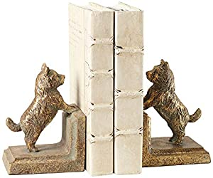 Frisky dog bookends set