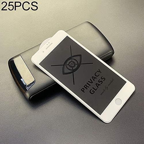25 stuks voor iPhone 7 Plus / 8 Plus anti-glare volledig scherm gehard glas film nieuw (zwart) Moonbaby Kleur: wit