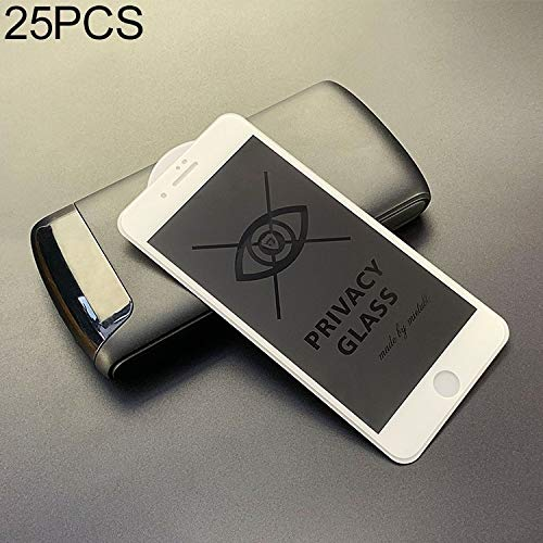 25 STKS Voor iPhone 6 / 6s Anti-glare Volledig Scherm Gehard Glas Film Nieuwe (Zwart) Moonbaby Kleur: wit