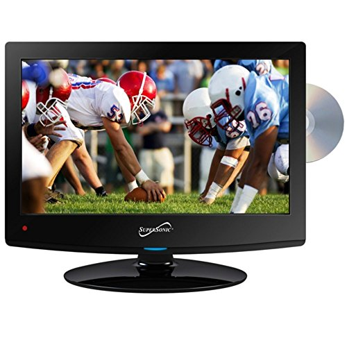 Great Deal! Supersonic SC-1512 LED HDTV 15 Black W/Built-in DVD Player USB & Dual Tuner Consumer Ele...
