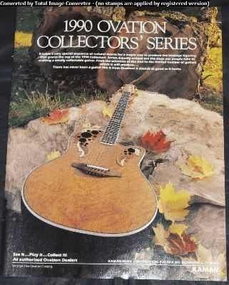 Ovation Guitars Free shipping / New 1990 Collectors Ranking TOP7 Trade Ad Series