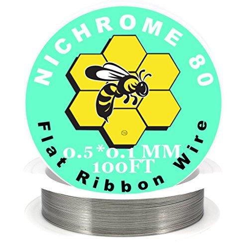 Genuine Kbee's Nichrome 80 Series 0.5 x 0.1 Flat Ribbon Wire - 100ft