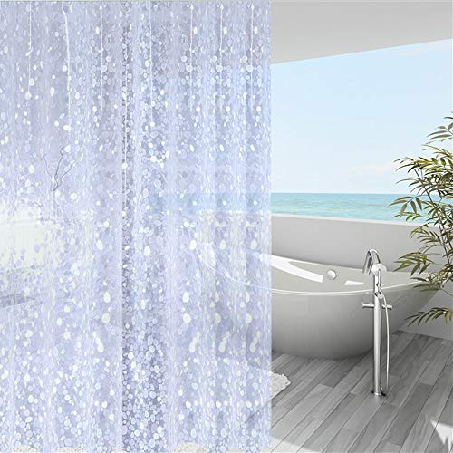 WellColor Short Shower Curtain Liner 65 inch, Pebble...
