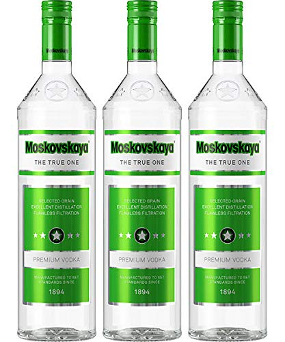 Moskovskaya The True One Premium Vodka (3x 1,0 L)