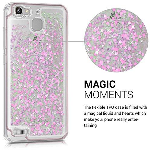 kwmobile Huawei GR3 / P8 Lite SMART Hülle - Handyhülle für Huawei GR3 / P8 Lite SMART - Handy Case in Pink Transparent - 2