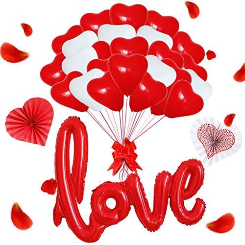 Globos de látex en Forma de corazón, de 12 Pulgadas, en Forma de corazón, Globos de San Valentín, Decoraciones para Bodas, Decoraciones para Fiestas.