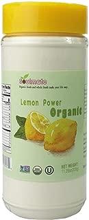 SOULMATE Organic Lemon Powder 100% Meyer Lemon 11.29 Oz Large Shaker No Sugar 0 Additive USDA Kosher Non-GMO Refreshing Herbal Scent 320g