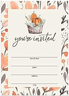 Thanksgiving Dinner Invitations & Envelopes (Pack of 25) Large Blank 5 x 7